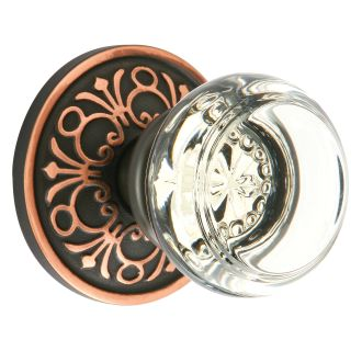 Emtek Crystal Privacy Knobset with Brass Rosette