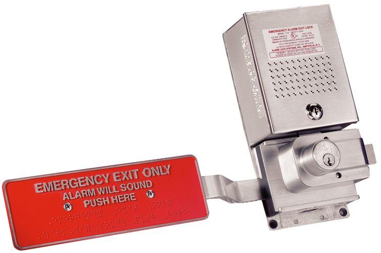Alarm Lock 11a Rim Exit Device Aluminum Sirenlock Exit