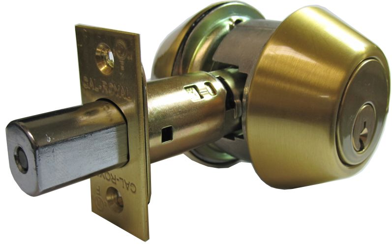 Cal Royal Utl362 Keyed Entry Satin Nickel T300 Deadbolt