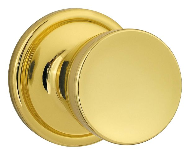 Kwikset 788a Single Dummy Polished Brass Abbey Knobset