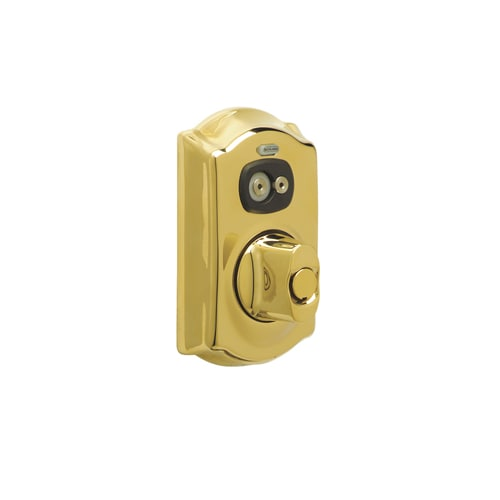 Schlage Be367 Cam Keyed Entry Lifetime Polished Brass