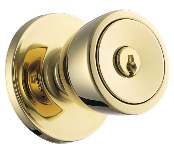 Weiser Lock GAC581B Keyed Entry Polished Brass Beverly