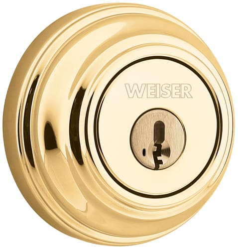 Weiser Lock Gcd9371 Keyed Entry Lifetime Polished Brass