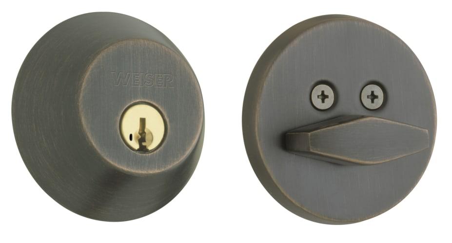 Weiser Lock Gd9371 Keyed Entry Venetian Bronze Deadbolts