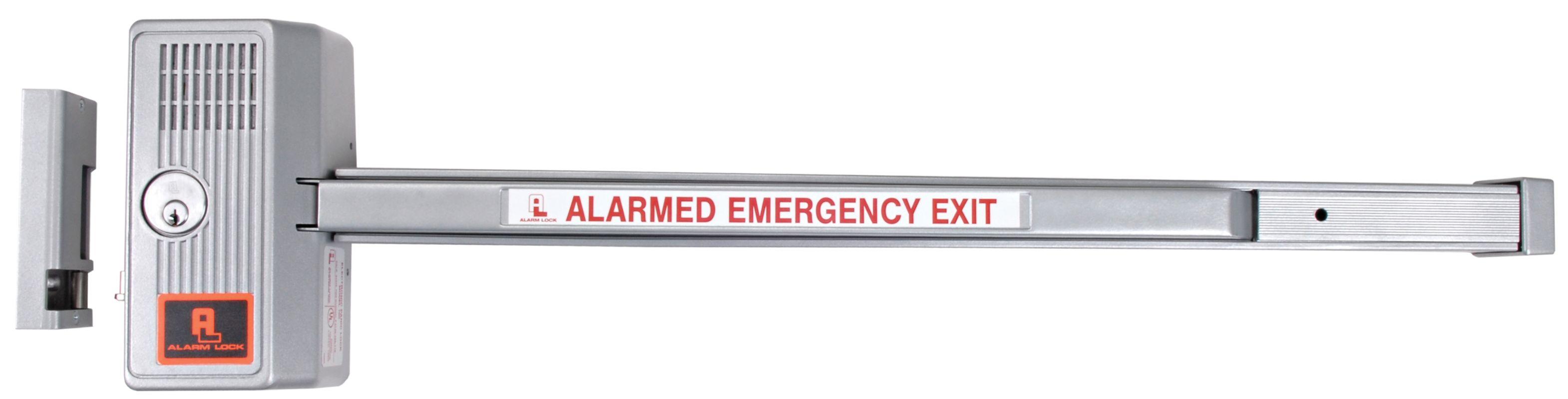 Alarm Lock 710x28x48 Aluminum Sirenlock 48 Wide Grade 1 Push Bar Rim Exit Device