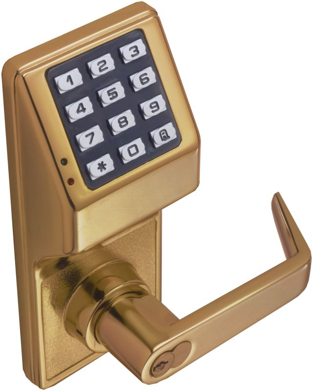 alarm lock dl5200 26d satin chrome trilogy 100 user electronic digital keypad double sided lock. Black Bedroom Furniture Sets. Home Design Ideas
