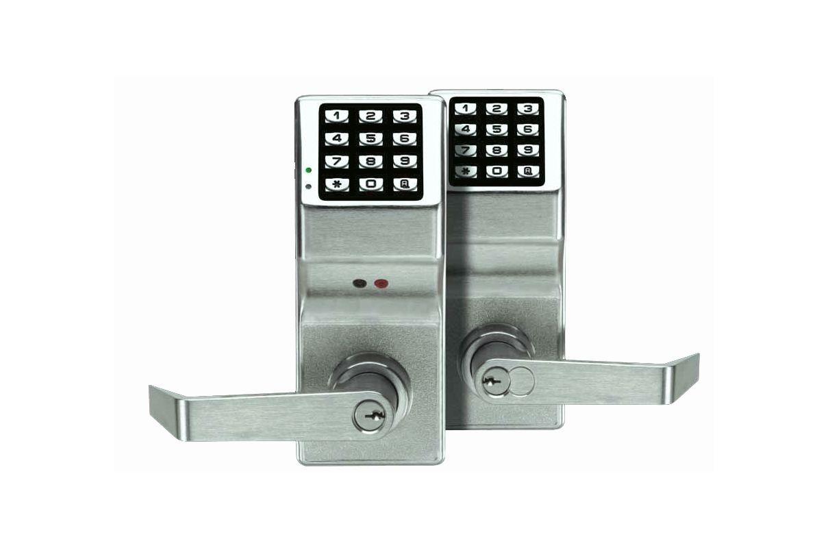 alarm lock dl5300 26d satin chrome trilogy 2000 user electronic digital keypad double sided lock. Black Bedroom Furniture Sets. Home Design Ideas