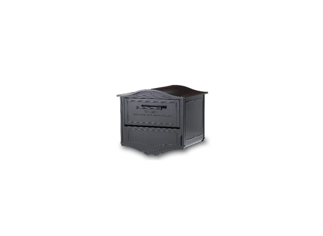 Architectural Mailboxes 6700b Black Locking Post Mount