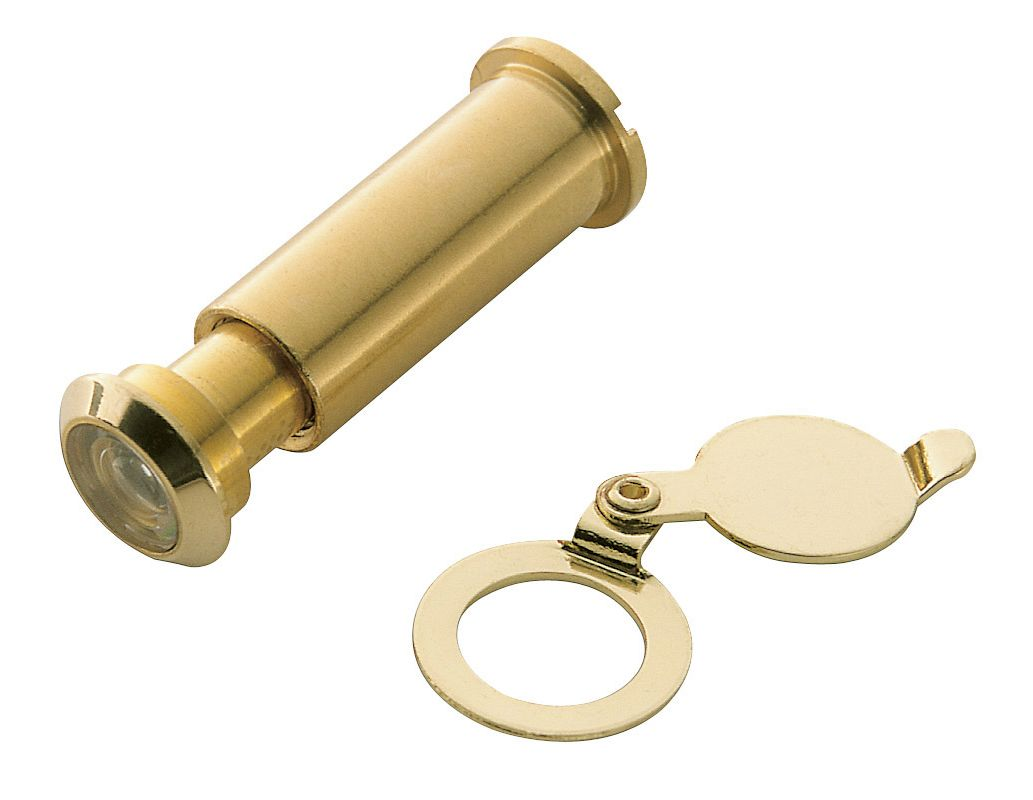 Door Viewer For 3 4 Quot Thick Door : Baldwin polished brass observ o scope door viewer
