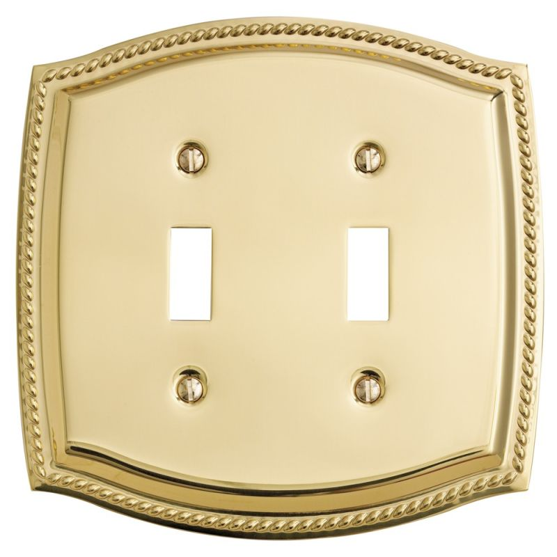Baldwin 4790030 Polished Brass Rope Design Double Toggle