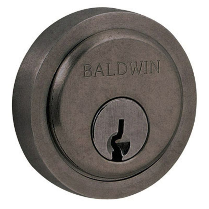 Baldwin 6738452 Distressed Antique Nickel Round Cylinder
