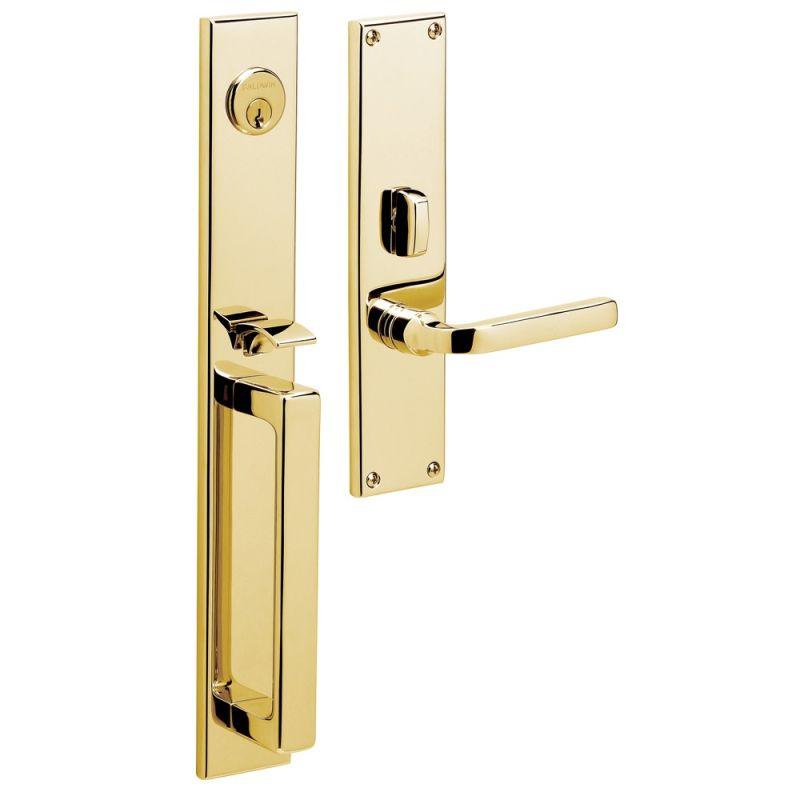 Baldwin 6976003rfd Lifetime Polished Brass Right Handed Dummy Set Handleset