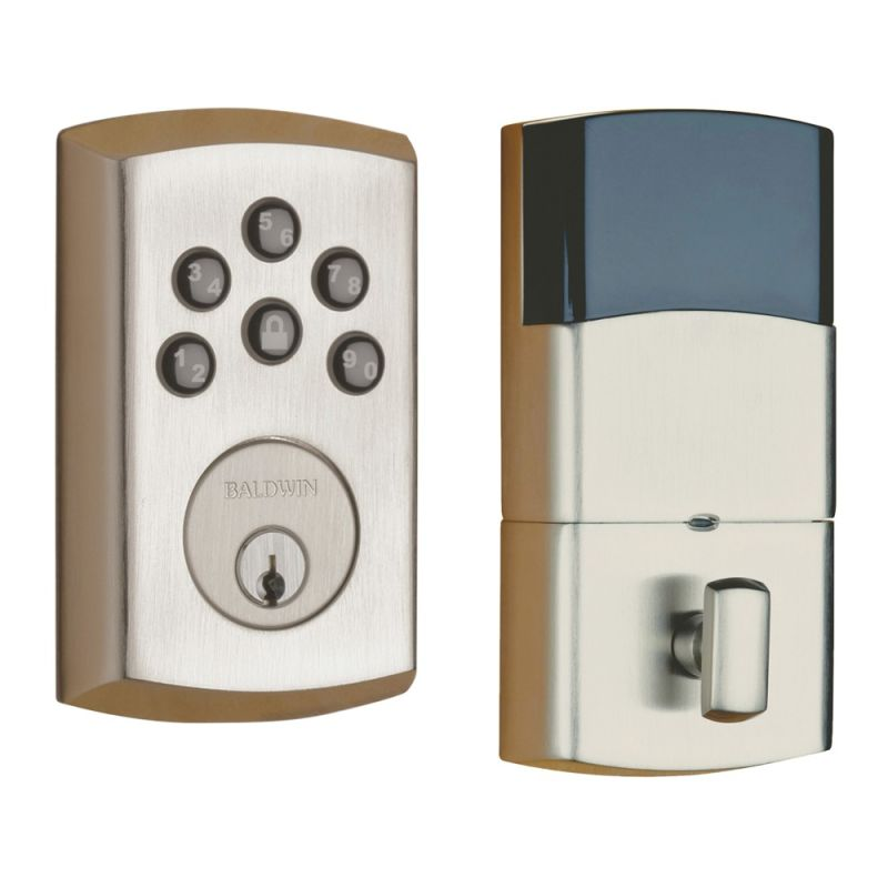 Baldwin 8285056ac1 Lifetime Satin Nickel Soho Keyless
