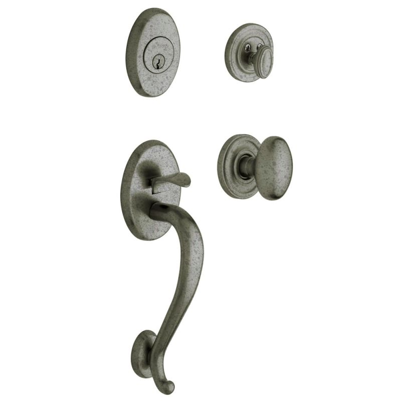 Baldwin 85335452entr Distressed Antique Nickel Logan