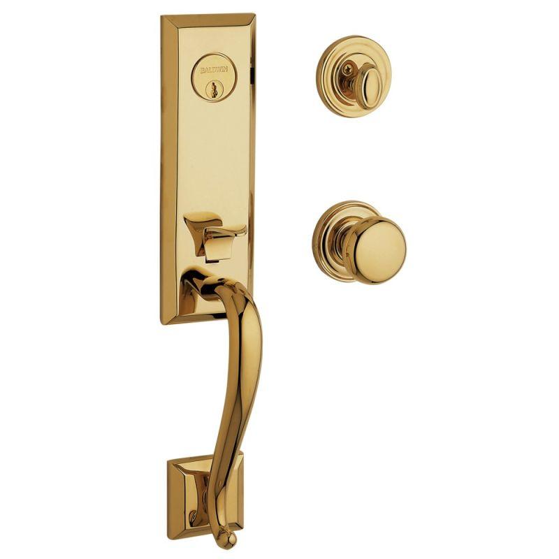Baldwin 85375003dblc Lifetime Polished Brass Glennon