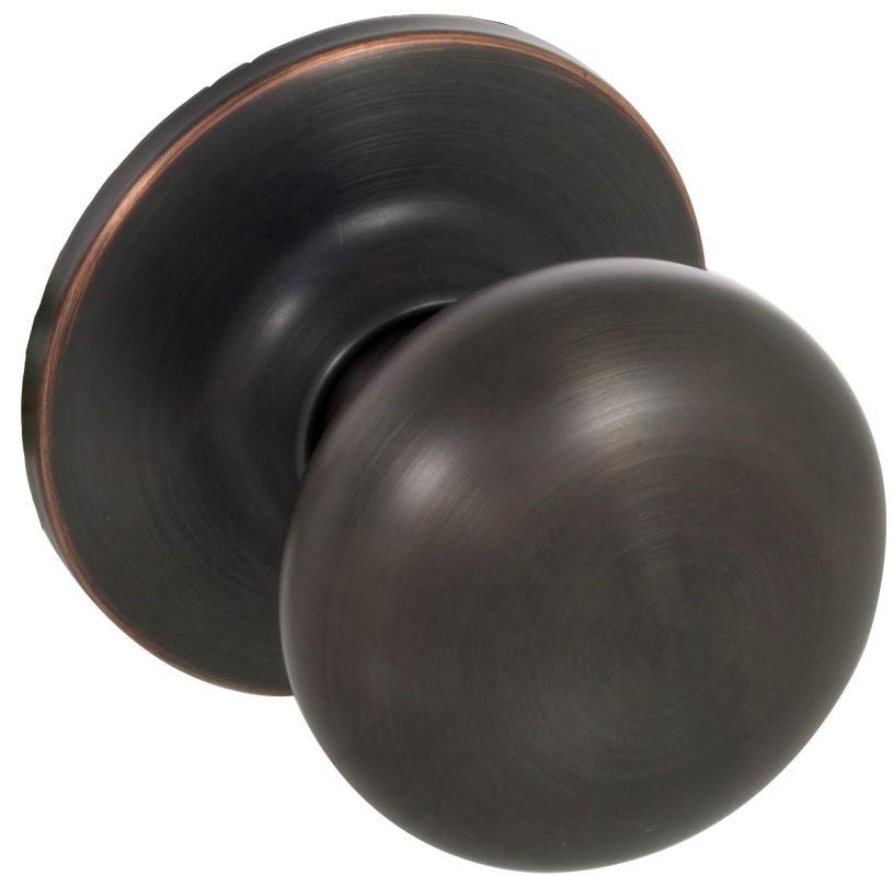Callan ks1077 edged oil rubbed bronze saxon series interior door knob only for Rubbed bronze interior door knobs