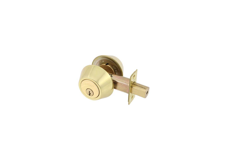Ez Set 231013 Polished Brass Double Cylinder Keyed