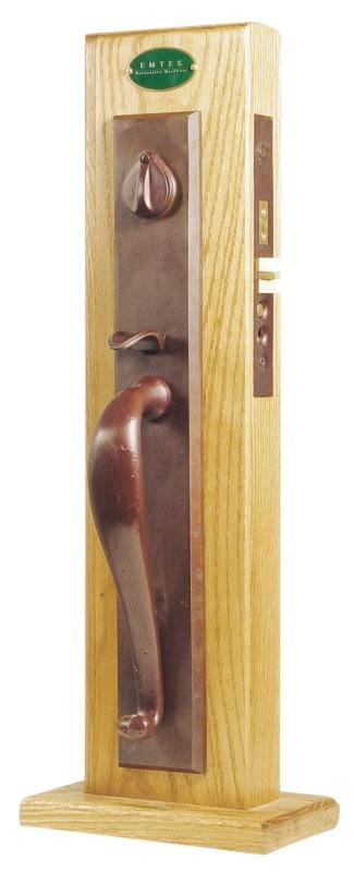Emtek 3326mb Medium Bronze Rectangular Single Cylinder