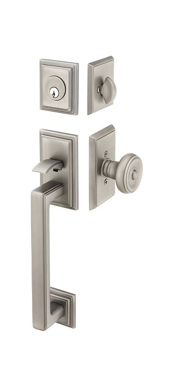 Emtek 4223us15a Pewter Hamden Double Cylinder Keyed Entry