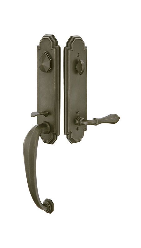 Emtek 472222mb Medium Bronze Octagon Double Cylinder Keyed