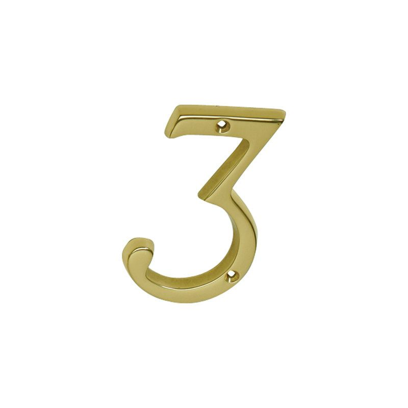 Ives sc23036605 bright brass 4 inch brass classic house for Classic house numbers