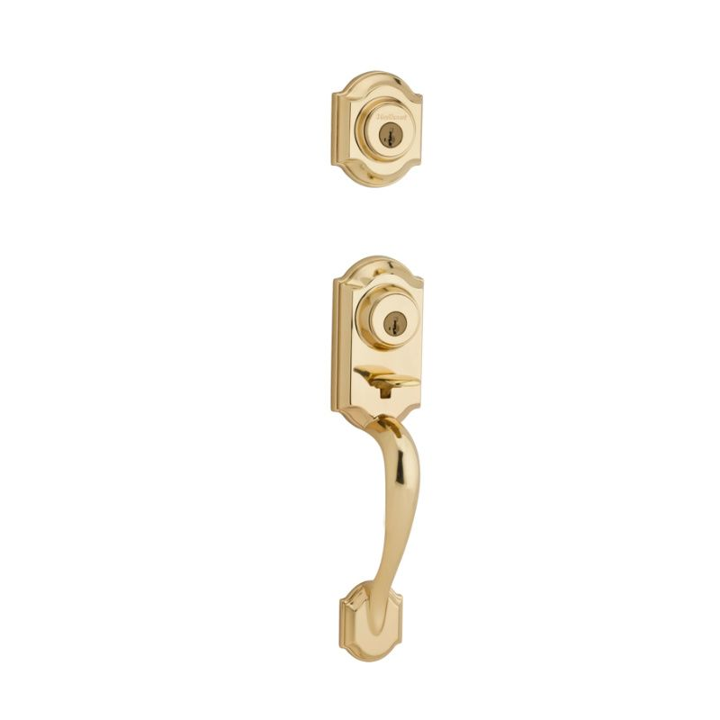 Kwikset 553mnhlip 3s Polished Brass Montara Two Point