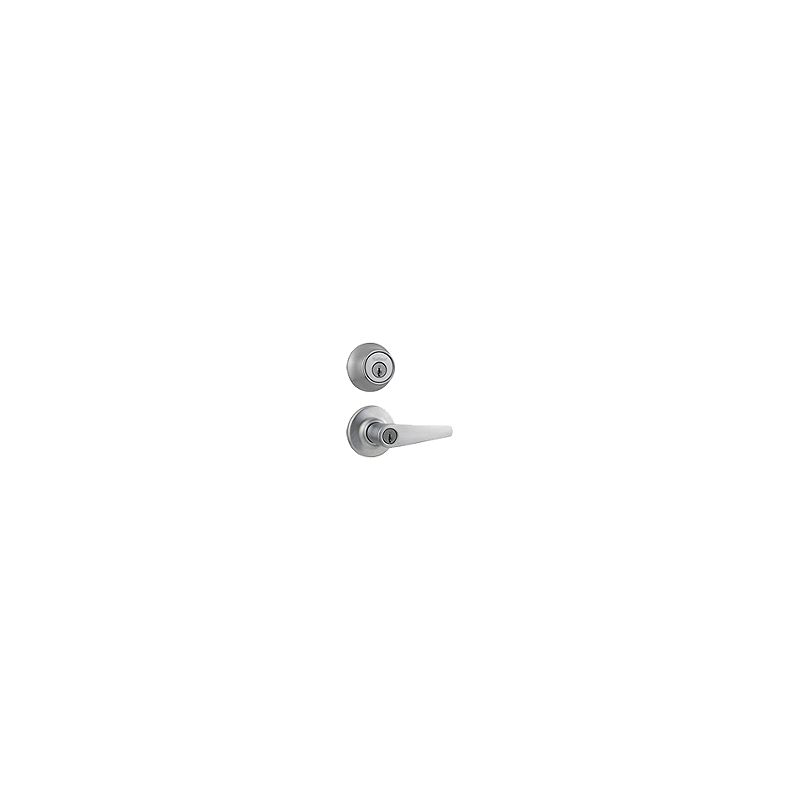 Kwikset 690dl 26d B Satin Chrome Delta Keyed Leverset With