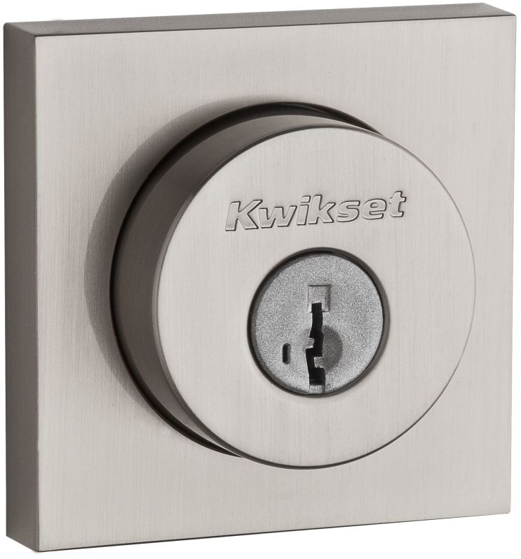 Kwikset 158sqt 15s Satin Nickel Halifax Single Cylinder