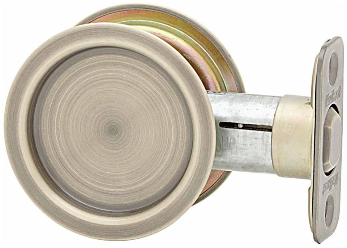 Kwikset 334 Round Passage Hall/Closet Pocket Door Lock