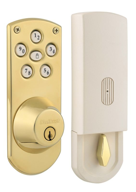 Kwikset 907 L03s Lifetime Polished Brass Powerbolt