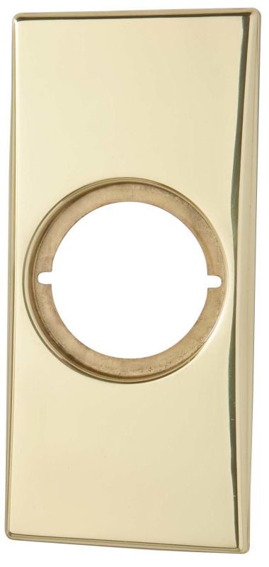 Kwikset Cp249 3 Polished Brass Medium Rectangular Rosette