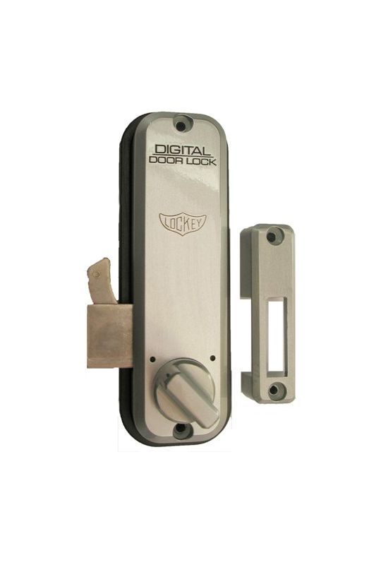 Lockey 2500sc satin chrome mechanical combination hook bolt for sliding glass doors and sliding - Sliding door combination lock ...