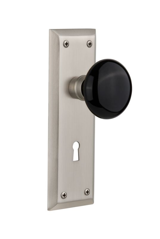 Nostalgic Warehouse 710368 Satin Nickel Privacy Door Knob