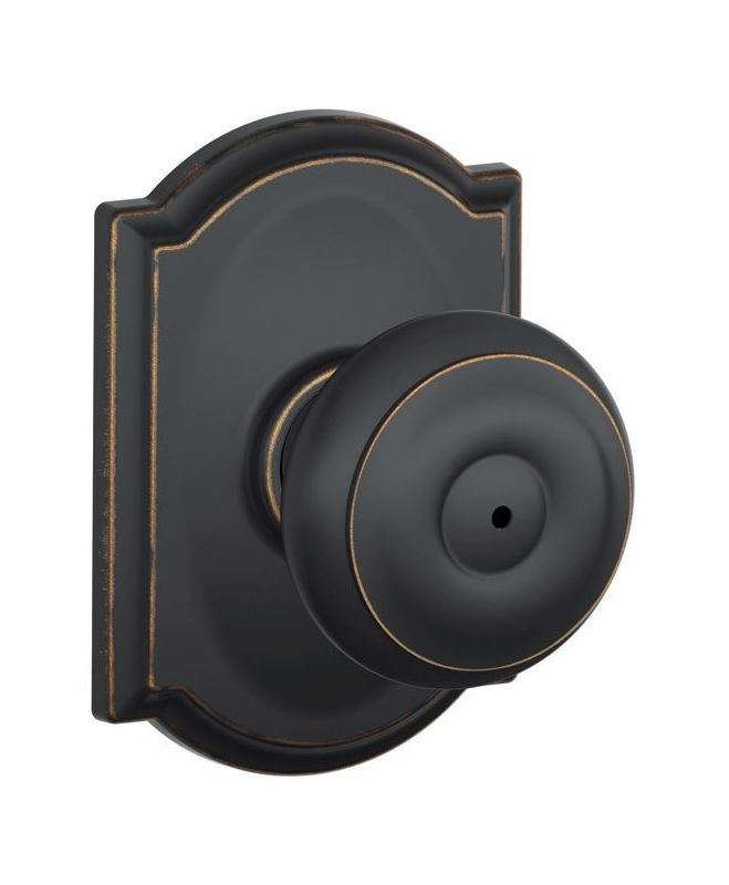 Schlage F40geo605cam Polished Brass Privacy Georgian Door