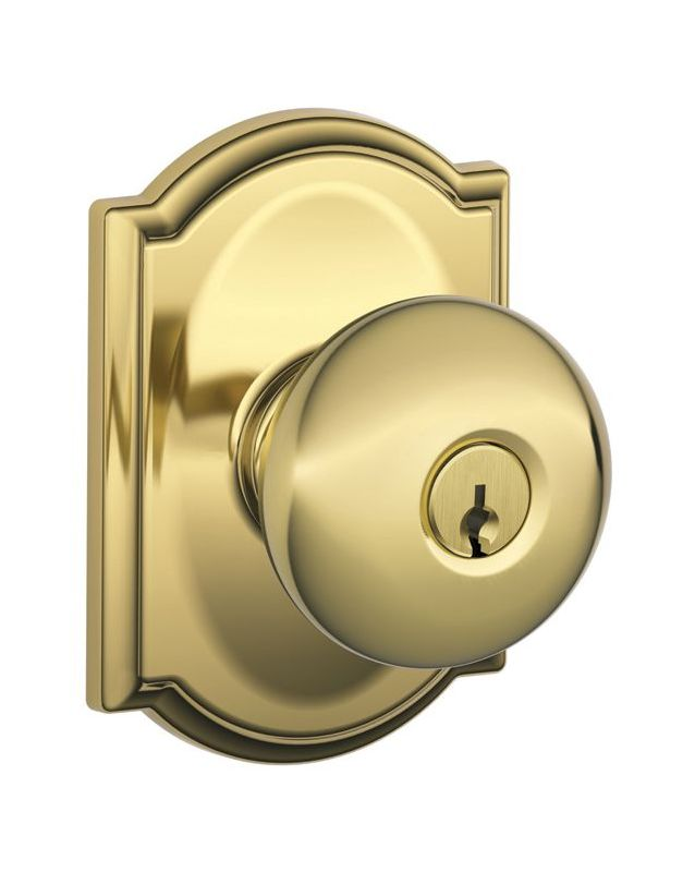 Schlage F51aply505cam Lifetime Polished Brass Plymouth