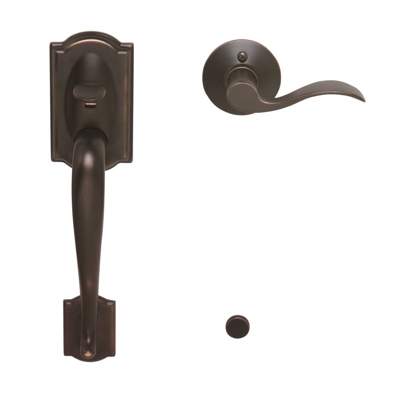 Schlage Fe285cam716acclh Aged Bronze Camelot Lower