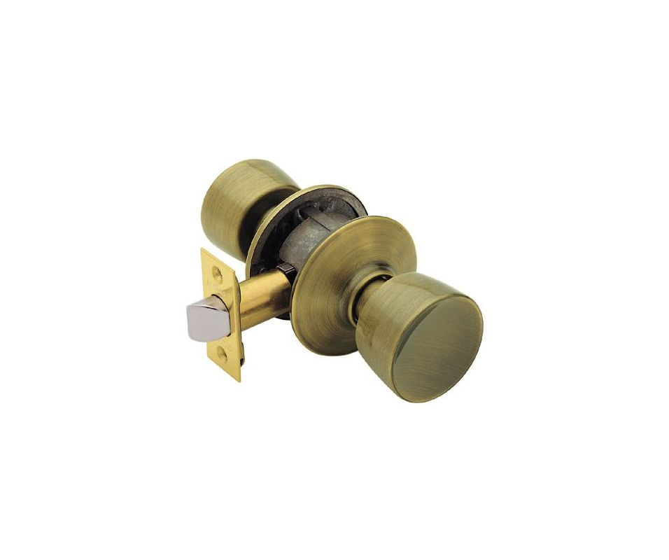 Schlage F10bel609 Antique Brass Bell Passage Door Knob Set