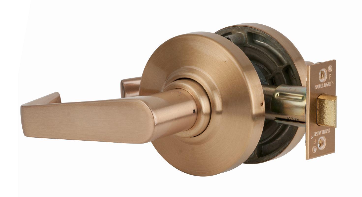 Schlage Al10sat609 Antique Brass Saturn Passage Door Lever