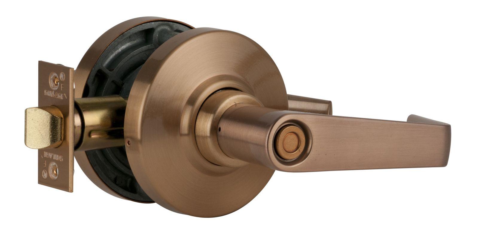 Schlage Al40sat609 Antique Brass Saturn Privacy Door Lever
