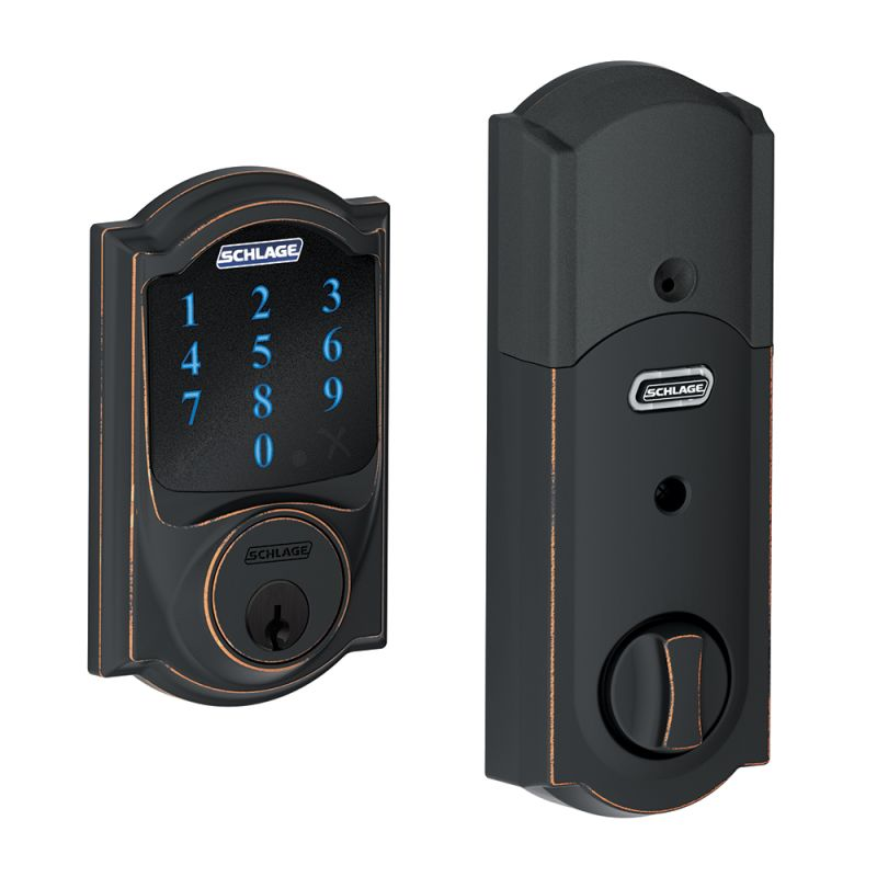 Schlage Be469nxcam716 Aged Bronze Connect Camelot