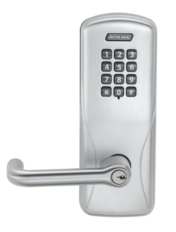 Schlage Co100ms70kptlr626 Satin Chrome Co Series