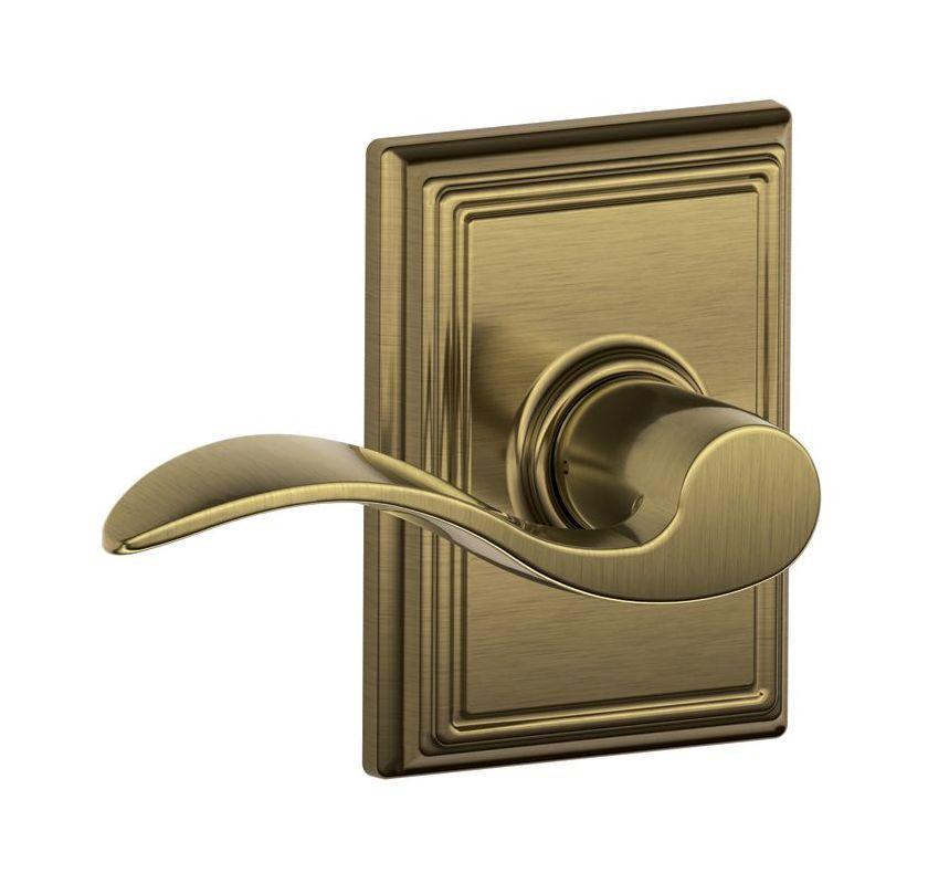 Schlage F10acc609add Antique Brass Passage Accent Door