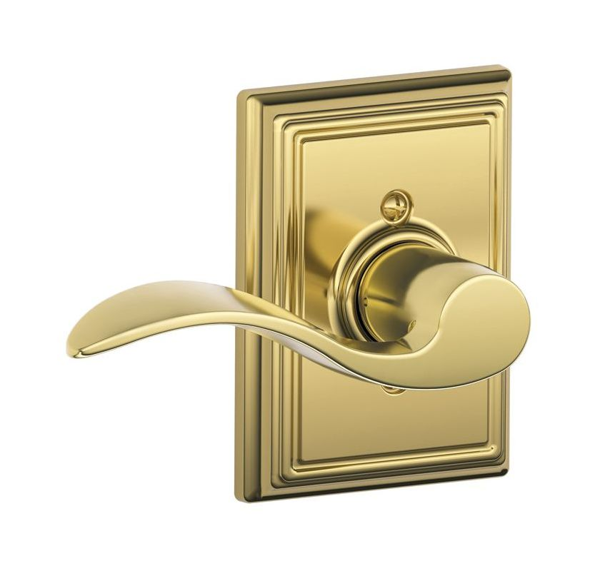 Schlage F170acc605addlh Polished Brass Single Dummy Accent