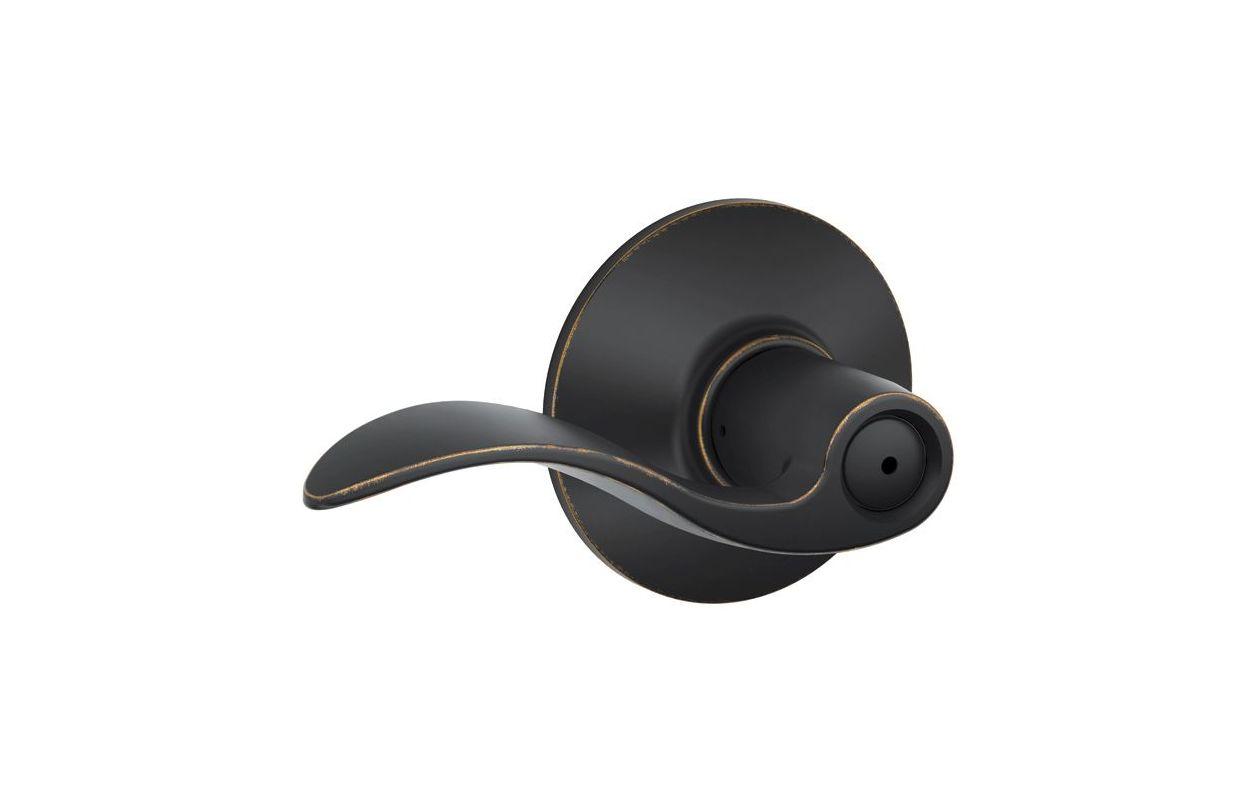 Schlage F40acc716 Aged Bronze Accent Series Privacy Door