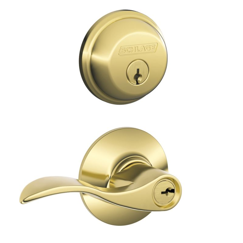 Schlage Fb50acc505 Lifetime Bright Brass Accent Keyed