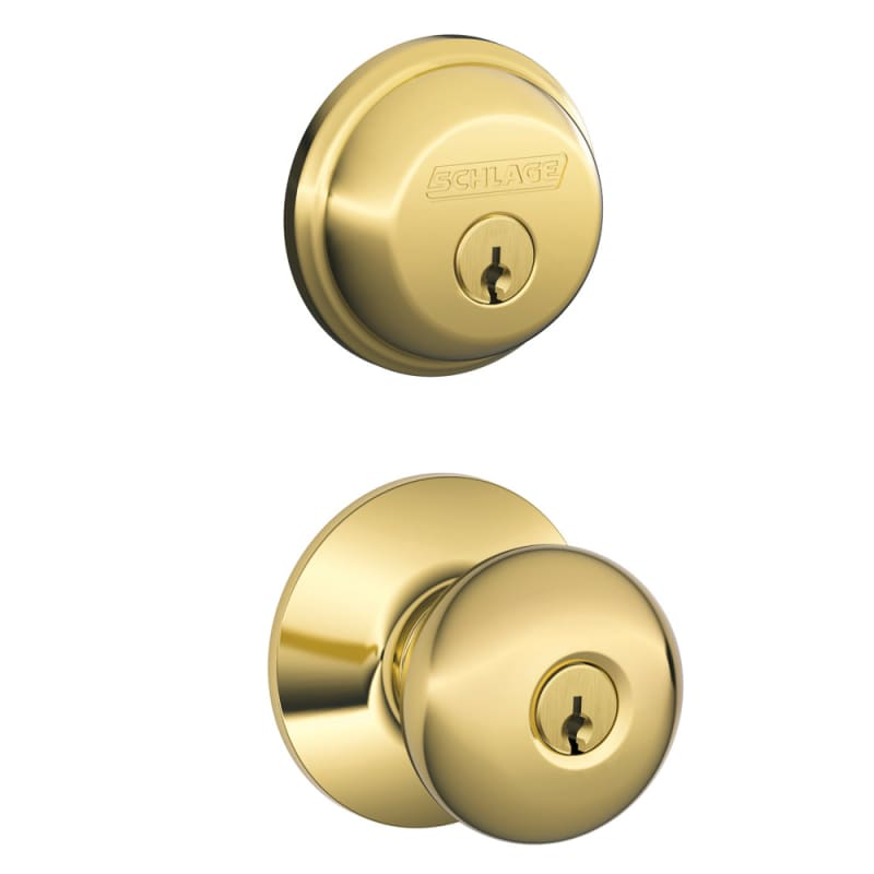 Schlage Fb50ply505 Lifetime Bright Brass Plymouth Keyed