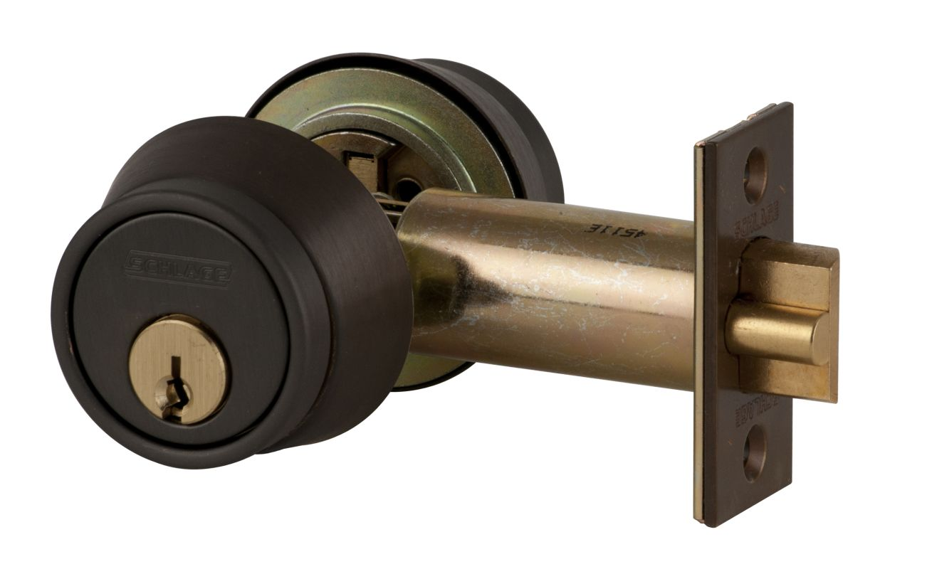Schlage B252613 Oil Rubbed Bronze Double Cylinder Deadbolt