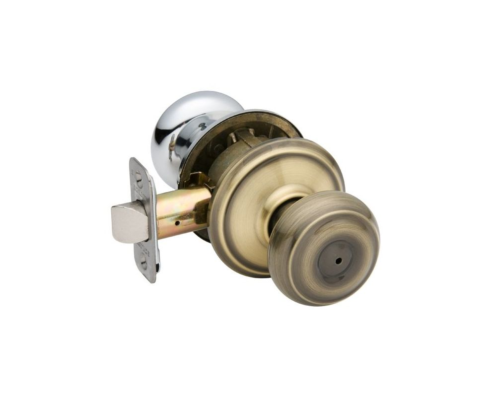 Schlage F40geo716 Aged Bronze Georgian Privacy Door Knob