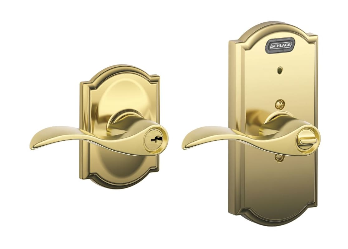 Schlage Fe51acc505cam Lifetime Polished Brass Camelot