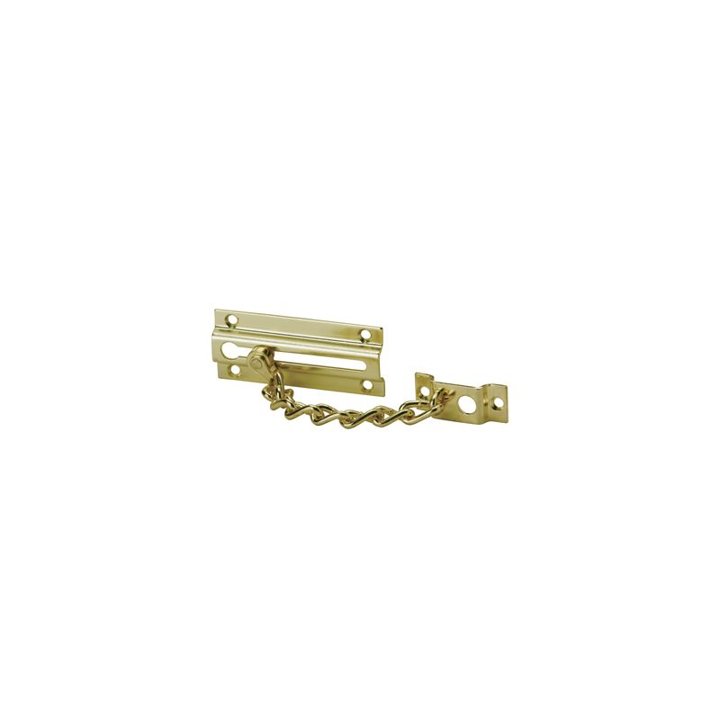 Schlage 481b3 Polished Brass 4 3 4 Inch Long Chain Door